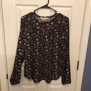 Brand new LOFT floral blouse